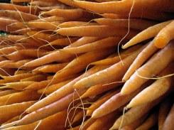 granville island market carrots by lorelle vanfossen