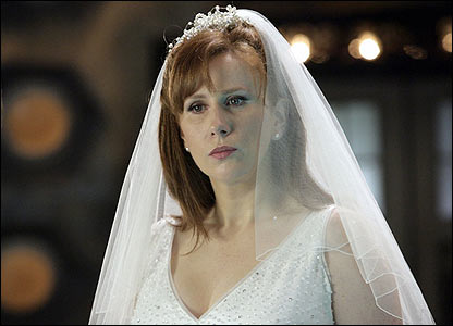 doctor who - donna noble in wedding dress