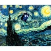 doctor who tardis - van gogh