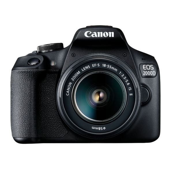 Canon Eos 2000d Dslr Camera With Ef-s 18-55 MM F/3.5-5.6 Is II Lens - Black