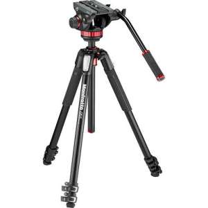 Manfrotto 502AH Video Head & MT055XPRO3 Aluminum Tripod