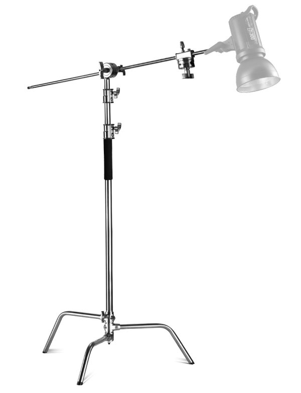 100% Metal C-Stand with Holding Grip Head for Photography Studio Video Reflector, Monolight and Other Equipment