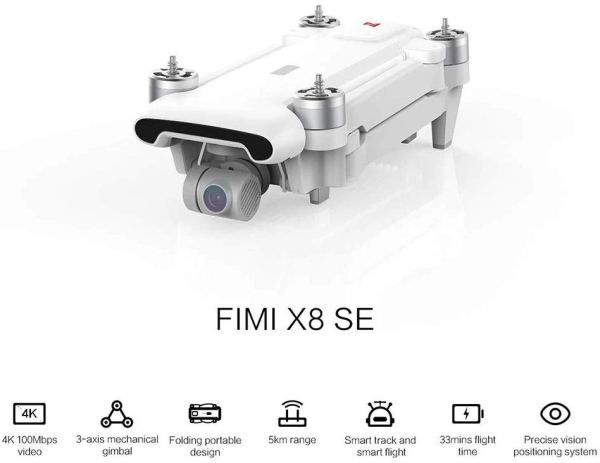 FIMI X8 SE with 3-axis Gimbal 4K Camera RC Drone Quadcopter RTF