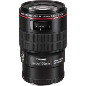 Canon EF 100mm f/2.8L Macro IS USM Lens (UK USED)