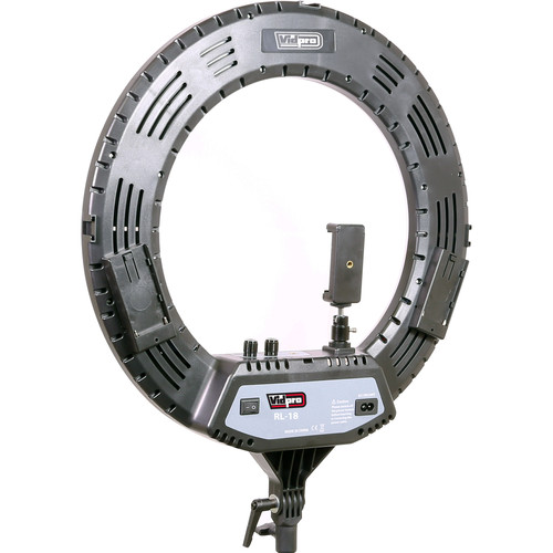 Vidpro RL-18 LED 18 Inch Ring Light Kit with Stand and Case. 55W Variable Color Temperature Adjustment for Portrait and Macro Photography, Fashion Modeling, Makeup Artists, Vloggers and Influencers.