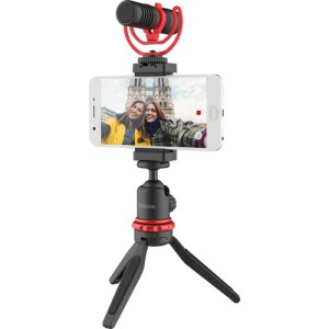 BOYA Vlogger Kit Plus (PL30 LED Light /T1 Tripod /C12 Shoe Mount /MM1+ Mic Plus)