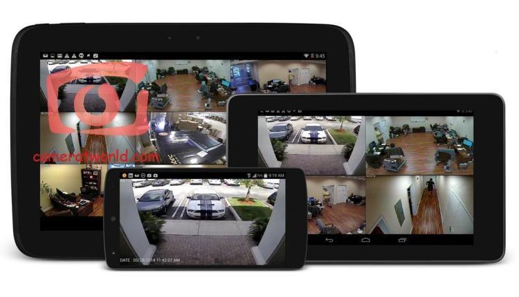 عرض كاميرات المراقبة علي موبايل