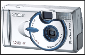 Canon Powershot A100 Manual, Manual of Unique-Designed Camera with Good Lens