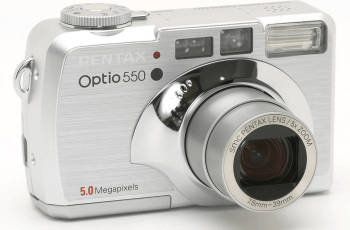 Pentax Optio 550 Manual User Guide and Detail Specification