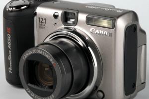 Canon PowerShot A650 I.