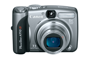 Canon PowerShot A710 IS manual: camera front side