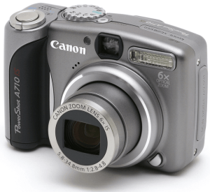 Canon PowerShot A710 IS manual: camera