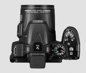 Nikon CoolPix P520 Manual - camera topsiden