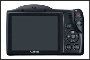 Canon PowerShot SX410 IS Manual - camera back side