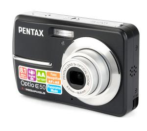 Pentax Optio E50 Manual - camera front side