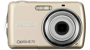 Pentax Optio E70 Manual - camera front face