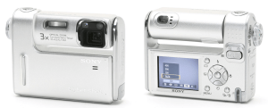 Sony Cyber-Shot DSC-F88 Manual - camera front and back side