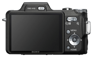 Sony Cyber-Shot DSC-H10 Manual - camera back side