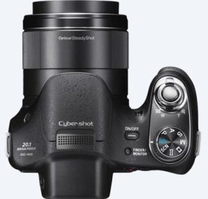 Sony Cyber-Shot DSC-H400 Manual - camera up side