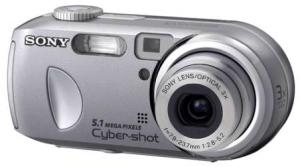 Sony Cyber-Shot DSC-P93 Manual - camera front face