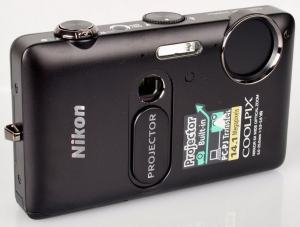 Nikon CoolPix S1200pj Manual - camera front face