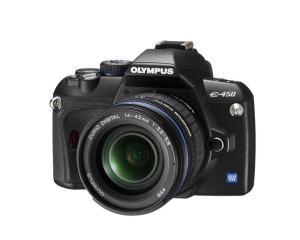 Olympus E-450 Manual - camera front face