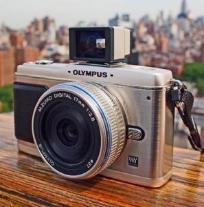 Olympus E-P1 Manual - camera face