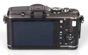 Olympus E-P3 Manual - camera backside