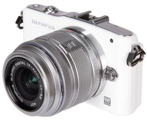 Olympus E-PM1 Manual - camera front face