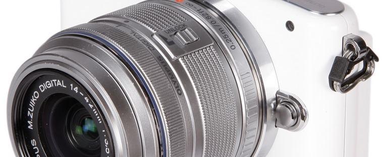 Olympus E-PM1 Manual - camera front face