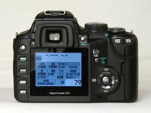 Olympus EVOLT E-500 Manual-camera back side
