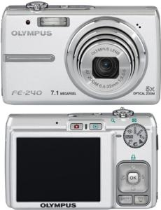 Olympus FE-240 Manual - camera front and back side