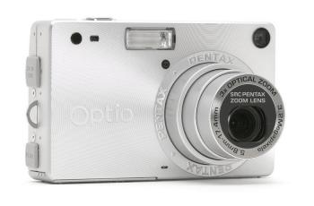 Pentax Optio S Manual - camera front side