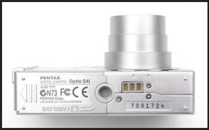 Pentax Optio S4 Manual-camera side