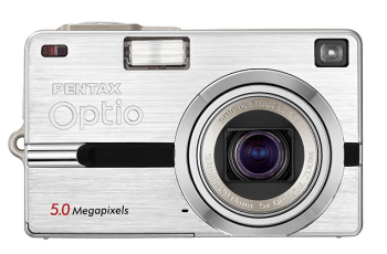Pentax Optio SV Manual - camera front side