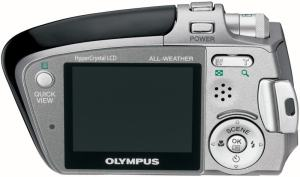 Olympus Stylus Verve - camera back side