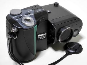 Nikon CoolPix 4500 Manual - camera front side