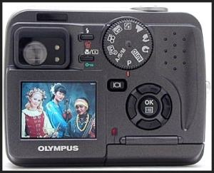 Olympus D-40 Zoom Manual - camera back side
