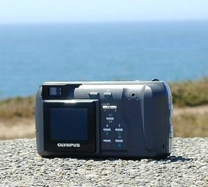 Olympus D-400 Zoom Manual - caera back side