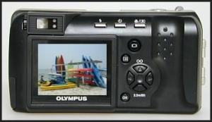 Olympus D-490 Zoom Manual - camera back side