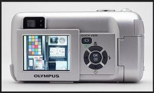 Olympus D-550 Zoom Manual - camera back side