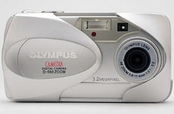 Olympus D-560 Zoom Manual - camera front side