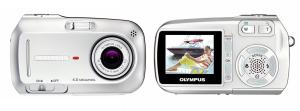 Olympus D-590 Zoom Manual - camera front and back side