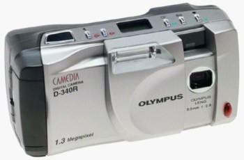 Olympus D-340R Manual - camera front side