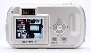 Olympus D-390 Manual - camera back side