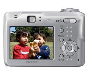 Sony DSC-S60 Manual - camera back side