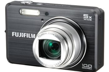 Fujifilm FinePix J110W Manual - camera front face