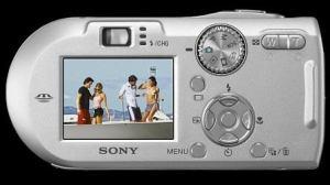 Sony DSC P-150 Manual - rear side