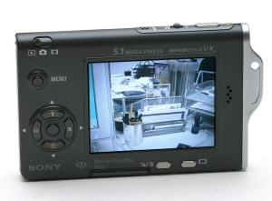 Sony DSC-T7 Manual - camera rear side