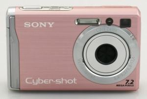 Sony DSC-W80 Manual - camera front face
